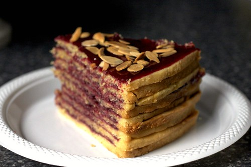 neapolitan cake, slice
