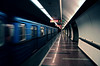 Board the distance. (next_in_line) Tags: travel reflection station train canon metro budapest sigma 1770 400d