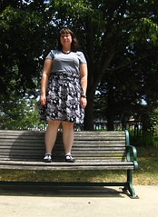 day256 Bench Monday (Opal in the rough) Tags: portrait woman me wardroberemix self bench happy outfit clothes 365 wardrobe monday 365day opalintherough