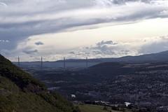 Millau 17-07-09-8547 (sweenpole2001) Tags: city bridge sky cloud holiday france clouds viaduct distance millau