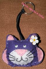 haveiro de Gato (Cat) em feltro muito fofo (Feltro_agulha_linha) Tags: gato felino feltro chaveiro
