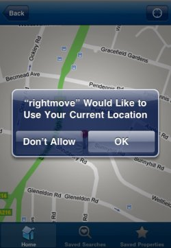 Rightmove app maps