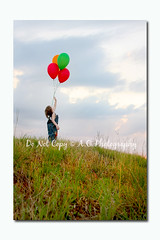 Photos I took of the boys the other day for a little fun! :) (A.C.Photography) Tags: kids vintage balloons children photography brothers bluesky greengrass radioflyerwagon