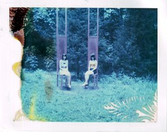 I see things I actually don't see (Kate Pulley) Tags: amanda polaroid expired pulley hanson 320 669 packfilm cheekwood chrissey expiredin1998