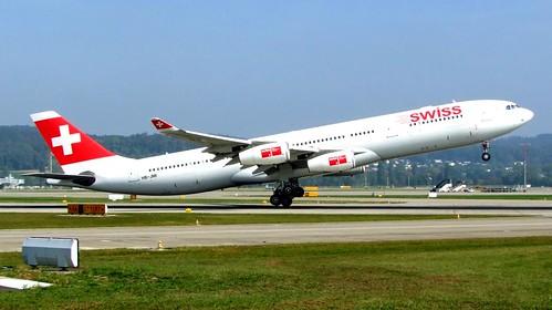 SWISS Airbus A340-300 HB-JMI