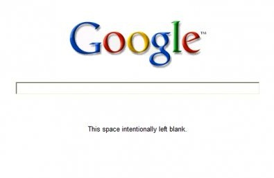 "Google ""This space intentionally left blank"""