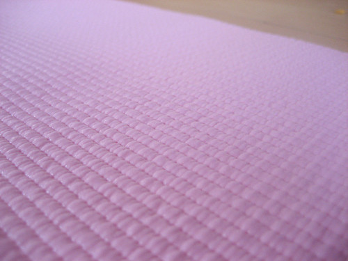 Close-up of my new yoga mat