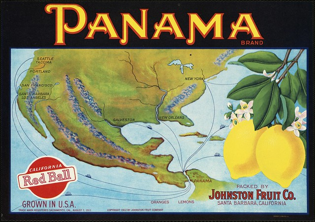 Panama Brand: Packed by Johnston Fruit Co., Santa Barbara, California