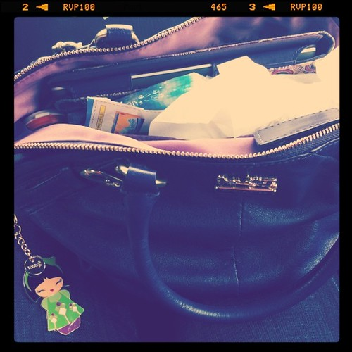 By the end of my week my purse is a war zone