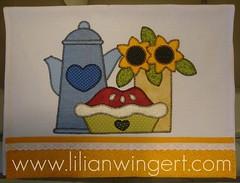PANO DE PRATO BULE (Lilian Wingert - Artesanato e Patchwork.) Tags: