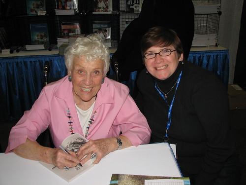 Jean Craighead George signing my books