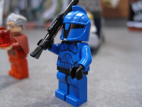Venator-Class Republic Attack Cruiser Blue Royal clone trooper