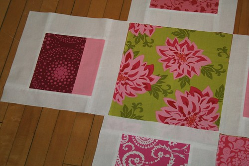 pink and green quilt idea