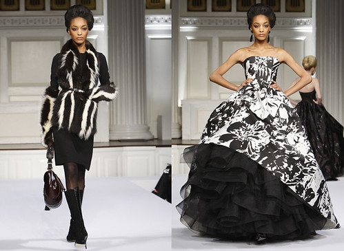 Jourdan Dunn Bookends Oscar De La Renta Fall RTW 2009