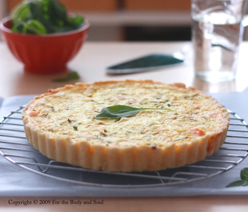 Goat Cheese and Salmon Cheese Quiche 3751