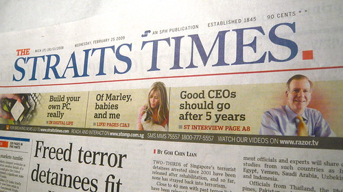INSEAD Dean Frank Brown on the Straits Times home page
