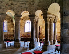 bois-ste-marie (klaus53) Tags: light france church shadows chairs roman burgundy chiesa romanesque bourgogne boisstemarie
