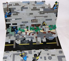 ApocaLego Diorama (kojman47) Tags: lego contest apocalypse terrorists fighting confusion brickarms apocalego governmenttroops standardaztion