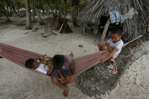 Kids on Cayo Chichime, San Blas Islands.