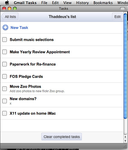 Gmail Tasks as Application
