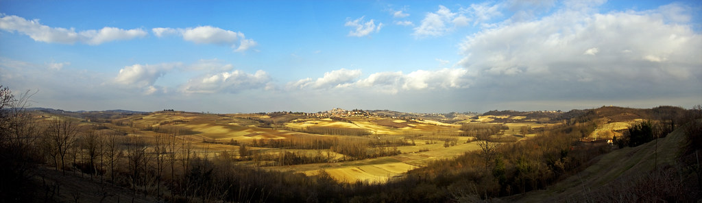 Panoramic view of Monferrato