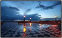 dusk (paololivorno) Tags: light sky cloud reflection beach clouds port mare boulevard ship dusk blu luci livorno riflesso passeggiata terrazza mascagni imbrunire terrazzamascagni