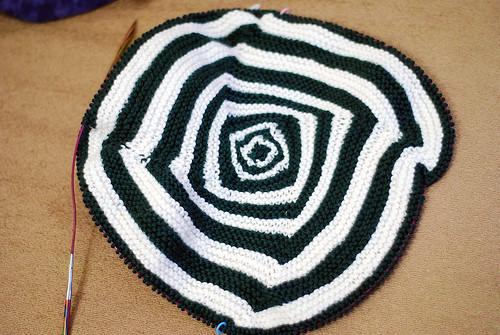 Baby OpArt Blanket - WIP