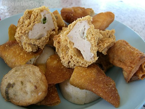 Leong Meng Fatt Hakka YTF - deep fried pieces1