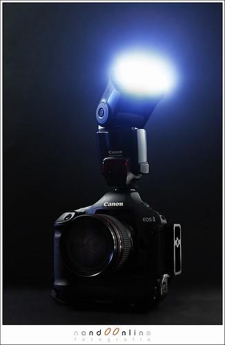 figuur 1: EOS 1DmkIII met EF 35mm f/1,4L en Speedlite 580EX