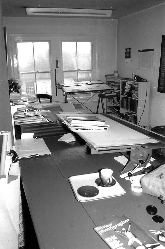 The drawing office, 9 Bridge Street, Abingdon, circa 1980