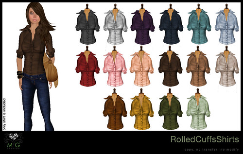 [MG fashion] RolledCuffsShirts