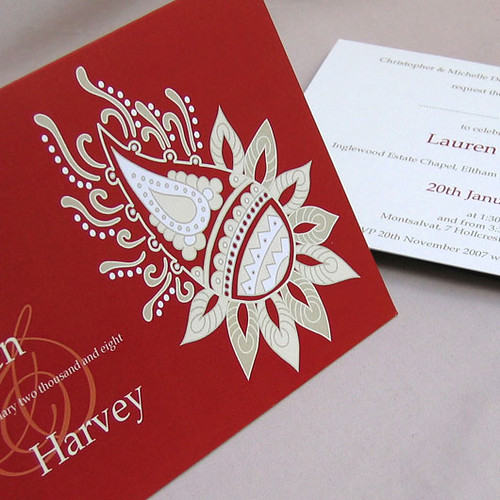 Ethnic ruby wedding invitation from mini Moko, Ethnic ruby Wedding invitation idea, wedding invitation sample, wedding invitation, flowers, photos