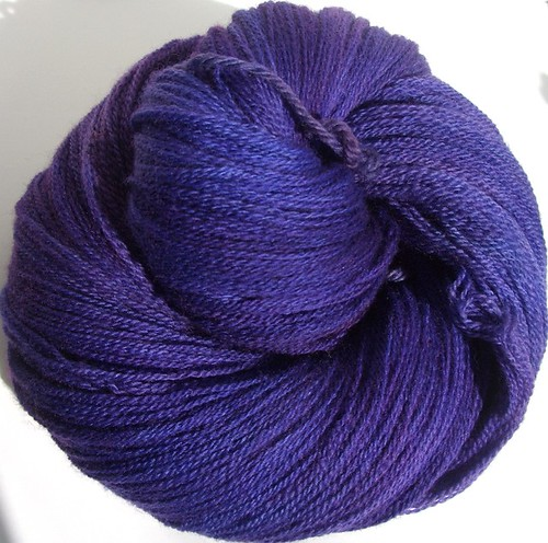 self dyed deep purple lace weight yarn-2