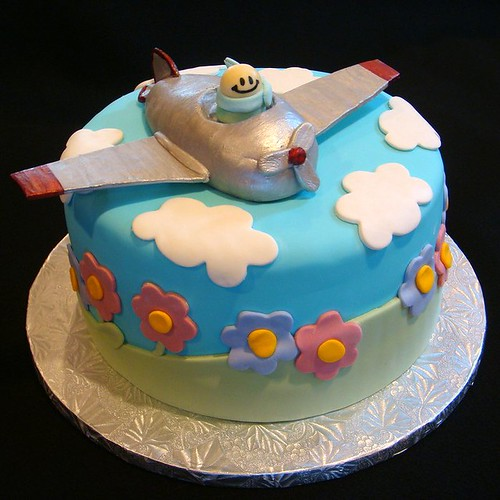 Airplane Baby Shower Cake (Boy)