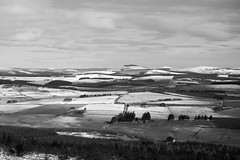 The road from Slack to Cushnie through snow dusted Aberdeenshire farmland. (James_at_Slack) Tags: snow rural countryside aberdeenshire forestry hills fields slack forests tarland framland taponoth cushnie craiglich tillylodge chraad