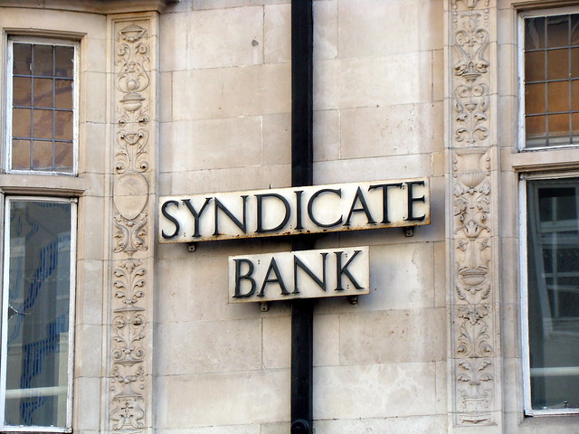 SYNDICATE BANK. Eastcheap, London, EC2.