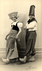 Two Children in Dutch Costumes (Galt Museum & Archives on The Commons) Tags: boy two girl dutch pose children costume 1930s hats apron clogs woodenshoes galtmuseum galtarchives aninesfavourite