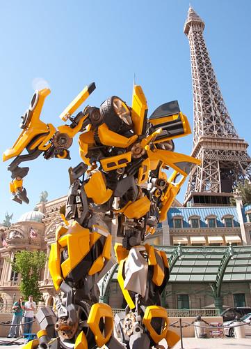 Bumblebee Transformers Eiffel Las Vegas