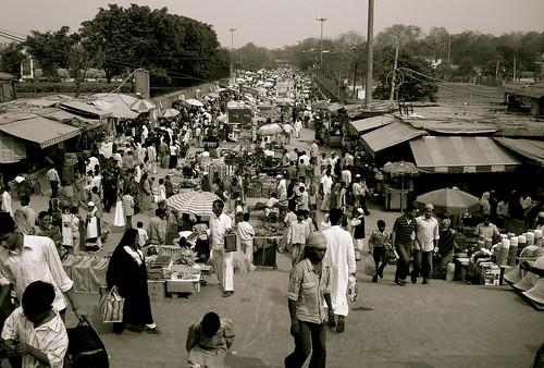 A typical day at Jama Masjid Meena Bazaar
