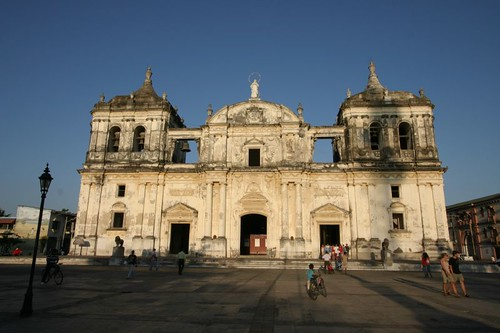 Cathedral in León, Nicaragua.