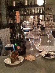 Sweet Revenge cupcake plus champagne