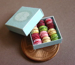 Mini macarons (PetitPlat - Stephanie Kilgast) Tags: france french miniatures sweet handmade sugar polymerclay fimo minifood minis dollhouse chocolatecake miniaturecake macarons miniaturefood minicake miniaturen chococake whiteicing petitplat claycake macaoons gateaufimoblackforest