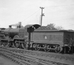 31509 Faversham Shed 16 April 1957 (pondhopper1) Tags: blackandwhite white black steam railways uksteam
