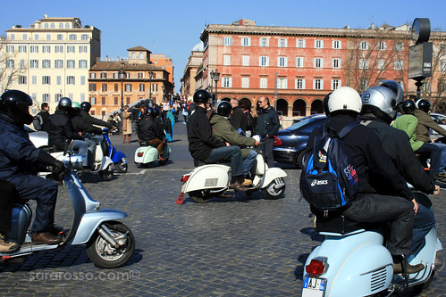 The Rome on a Vespa Tour takes off