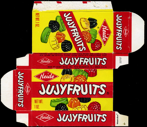 Heide - Jujyfruits 1 oz candy box - 1970