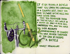 Bicycles (Wil Freeborn) Tags: moleskine bicycle quote journal bicycles ernest hemingway