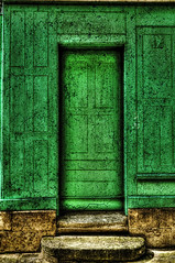 Green Cracked Door