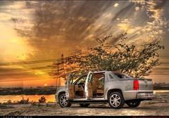 Sun Set (Talal Al-Mtn) Tags: sun set desert cadillac kuwait escalade q8 bnaider ext cadillacescalade بنيدر cadillacescaladeext talalalmtn
