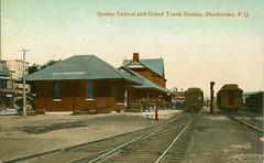 Quebec Central & Grand Trunk station Sherbrooke