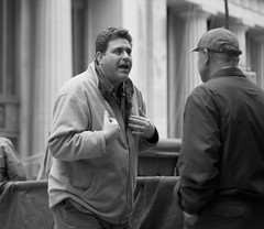 What About Me? (John Fraissinet) Tags: street nyc newyorkcity blackandwhite ny newyork man men streetphotography conversation discussion deserve johnfraissinet streetobservationscom johnfraissinet